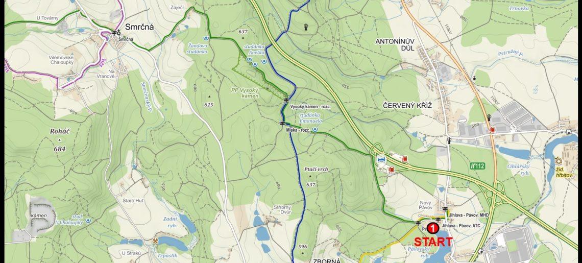 Mapa pro triatlon 2016